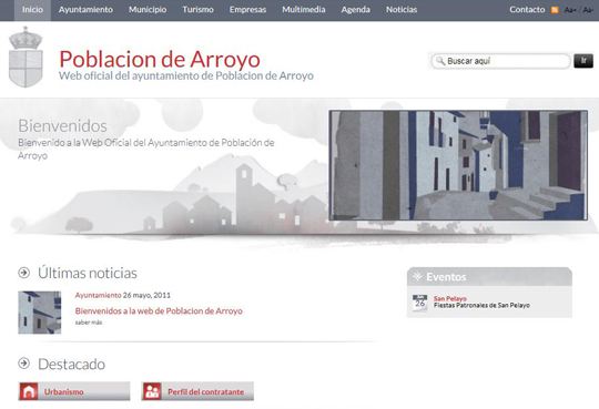 Bienvenidos a la web de Poblacion de Arroyo